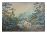 The Village of Rydal, Westmorland Premium Giclee Print by Sawrey Gilpin