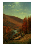 A Road Through Belvedere, Vermont Giclee Print by Thomas Worthington Whittredge