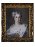 Portrait of a Lady in an Ermine-Trimmed Robe Giclee Print by Rosalba Carriera