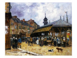 Market Day at Trouville, Normandy, 1878 Giclee Print by Eugène Boudin