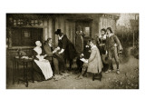 The Meeting of Milton and Andrew Marvell Giclee Print by George Henry Boughton