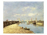 Trouville, the Jetty and the Basin, 1896 Premium Giclee Print by Eugène Boudin