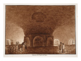 Basement of the Temple of the Circus, 1833 Giclee Print by Agostino Tofanelli