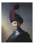 An Old Man in Military Costume Giclee Print by  Rembrandt van Rijn