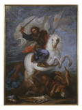 St. James the Great at the Battle of Clavijo Giclee Print by  Spanish School