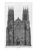 View of the West Front of York Cathedral, Engraved by James Basire Ii, 1806 Giclee Print by John Carter