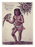 Amazon Indian, Engraved by Theodore De Bry Giclee Print by John White