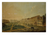 View of Wilhelmsplatz from the South, 1773 Giclee Print by Johann Friedrich Meyer