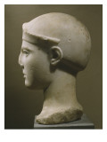 Head of Helmeted Athena, from Aegina, C.470-460 Bc Giclee Print by  Greek