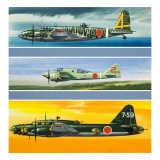 Japanese Aircraft of World War Two Giclee Print by Wilf Hardy