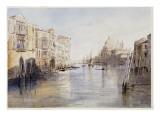 The Grand Canal, with Santa Maria Della Salute, Venice, Italy, 1865 Giclée-Druck von Edward Lear