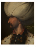 Portrait of Suleiman the Magnificent Premium Giclee Print by Cristofano Dell'altissimo