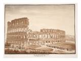View of the Colosseum from the Temple of Venus, 1833 Giclee Print by Agostino Tofanelli