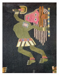 Woven Wool Dancer with Baton, Paracas Tribe Giclee Print by Peruvian School