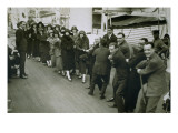 A Game of Tug of War Aboard an Ocean Liner Giclee Print by  English Photographer