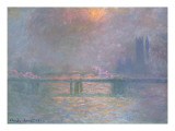 The Thames with Charing Cross Bridge, 1903 Giclee Print by Claude Monet