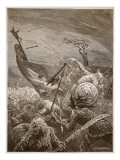 Death of Harold at the Battle of Hastings Giclee Print by Edward Frederick Brewtnall