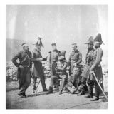 Lieutenant General Sir George Brown G.C.B and Officers of His Staff, C.1855 Giclee Print by Roger Fenton
