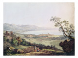 View of Geneva from Saconex in Savoy Premium Giclee Print by Karl Ludwig Hackert