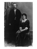 Wilhelm Liebknecht and Eleanor Aveling in America, 1887 Giclee Print by  German photographer
