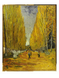 L'Allee Des Alyscamps, Arles, 1888 Giclee Print by Vincent van Gogh