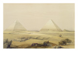 "The Pyramids of Giza, from ""Egypt and Nubia"", Vol.1 Premium Giclee Print by David Roberts"