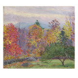 Landscape at Hancock, New Hampshire, October 1923 Giclee Print by  Perry