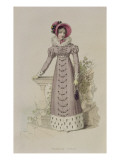 Walking Dress, Fashion Plate from Ackermann's Repository of Arts Giclee Print by  English School