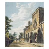 Winchester College Entrance with the Warden's House Reproduction procédé giclée par William Westall