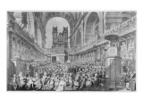 Thanksgiving at St. Paul's for George Iii's Giclee Print by Edward Dayes