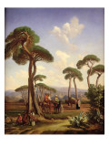 Arabs and Camels in Wooded Landscape Giclee Print by Prosper Georges Antoine Marilhat