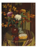 Chrysanthemums and Autumn Foliage, 1922 Giclee Print by Félix Vallotton
