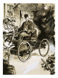 Henry Ford with His First 'Horseless Carriage' Giclee Print by  English School