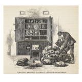 Fumigating Prisoners' Clothes at Coldbath Fields Prison Giclee Print by  English School