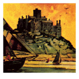 St Michael's Mount, Cornwall Giclee Print by  English School