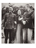 Chiang Kai-Shek and His Wife Meet American General Stilwell Giclee Print by  Chinese Photographer