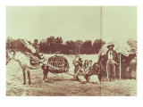 Cheyenne Indians on the Move, 1878 Premium Giclee Print by  American Photographer