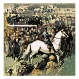 White Horse at the 1923 Cup Final at Wembley Giclee Print by  English School