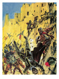 Attacking One of the So-Called Seven Cities of Gold Giclee Print by Graham Coton