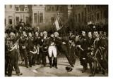 Napoleon's Farewell to His Generals at Fontainbleau, 1814 Giclée-Druck von Emile Jean Horace Vernet