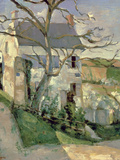 The House and the Tree, C.1873-74 Giclee Print by Paul Cézanne