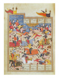 Battle Scene, Illustration from the 'shahnama' Giclee Print by  Indian School