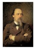Portrait of Nikolay Alekseyevich Nekrasov, 1877 Giclee Print by Ivan Nikolaevich Kramskoy