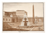 The Vatican Obelisk, from the Circus of Nero, 1833 Giclee Print by Agostino Tofanelli