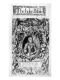 Titlepage of the Bishop's Bible, Pub. in 1568 Giclee Print by  English School