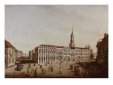 View of Castle Street and the Fiaker Square, Potsdam, 1773 Giclee Print by Johann Friedrich Meyer