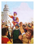 Queen Elizabeth I Making Her Armada Speech Giclee Print by C.l. Doughty