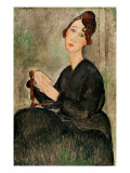 Portrait of Dedie Hayden, 1918 Premium Giclee Print by Amedeo Modigliani