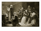 Celebration of Mass During the French Revolution Giclee Print by Charles Louis Lucien Muller