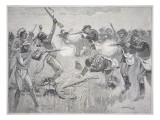 The Wounded Knee Massacre, 29th December 1890 Premium Giclee Print by  American School